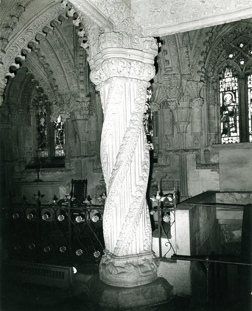 The pillar of Roslin Chapel.