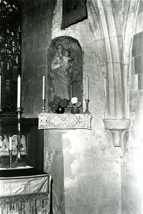 Statue, Pluscarden Abbey.