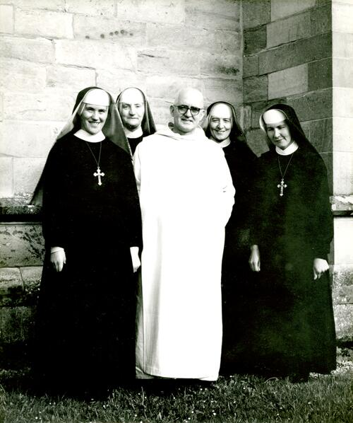 Monk and Nuns,Pluscarden Priory.