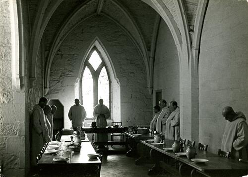 Refectory, Pluscarden Priory.
