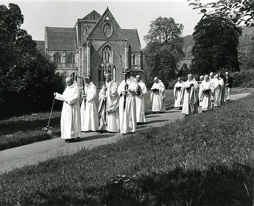 Procession, Pluscarden Priory.