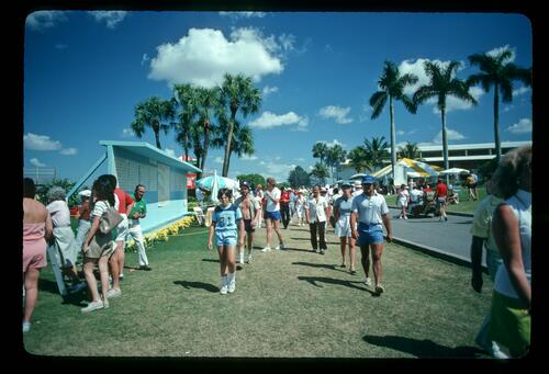 Crowds enjoying the sunshine during the 1982 Bay Hill Classic