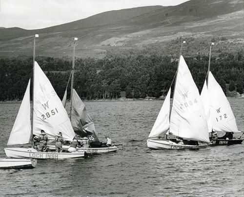 Sailing at Loch Insh, Badenoch.