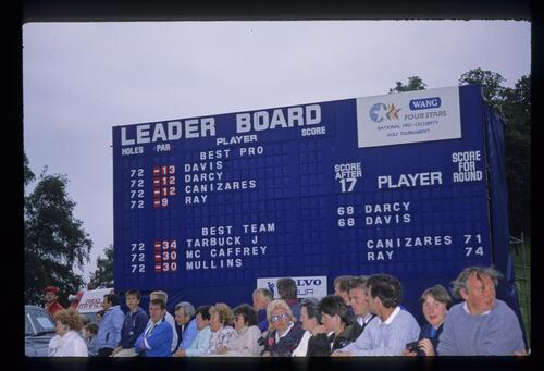 The final leaderboard during the 1988 Wang Four Stars Tournament
