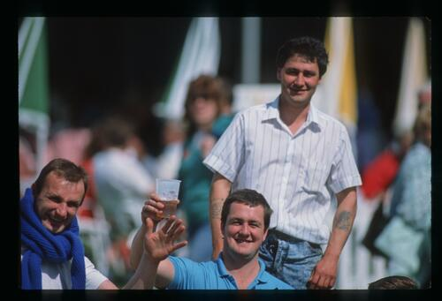 Spectators during the 1988 Wang Four Stars Tournament