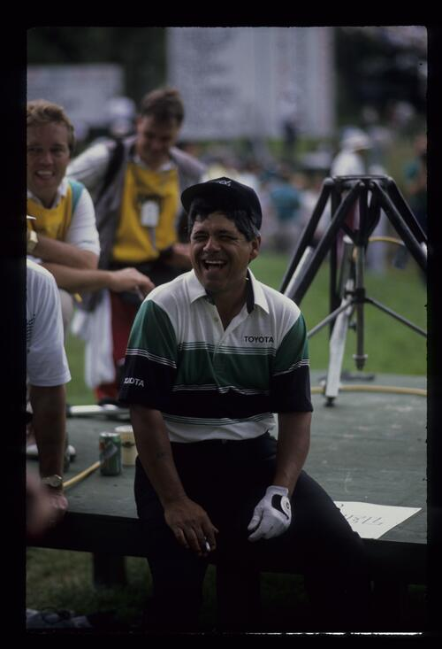 Golfer Lee Trevinno takes a break at the United States Open Championship