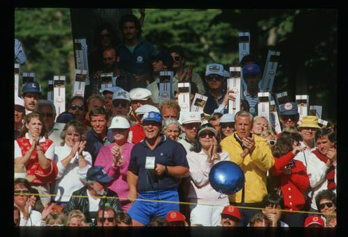 A view of the crowd at the 1987 US Open Championship at the Olympic Club