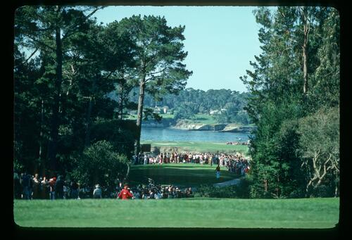 A view of Pebble Beach at the AT&T Pro-Am