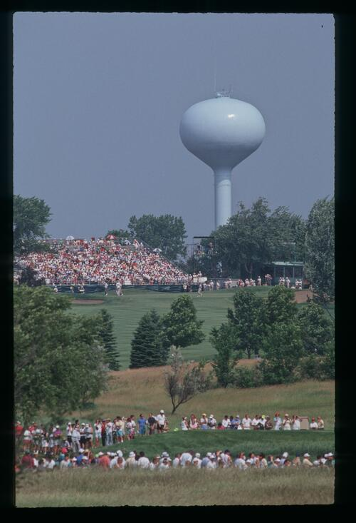 A view across the golf course at Hazeltine at the United States Open Championship
