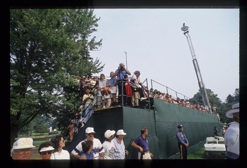 A view of the grandstands at the United States Open Championship