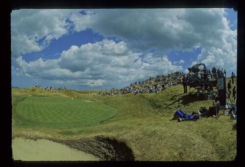 A view of the 6th hole at the 1985 Open Championship at Royal St Georges