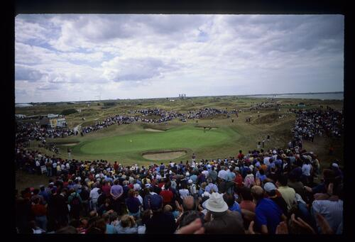 A scenic view of the 6th hole at Royal St Georges at The Open Championship