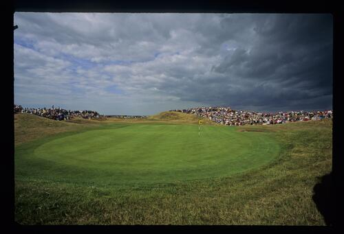 A view from behind the 6th green at The Open Championship at Royal St Georges