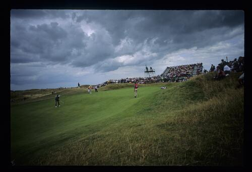 An uphill putt at The Open Championship at Royal St Georges