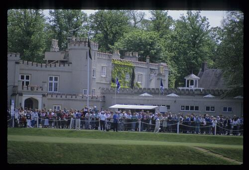 The first tee at Wentworth during the 1991 Volvo British PGA Championship