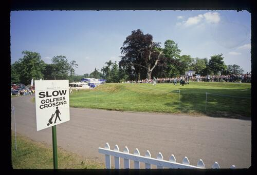 A view of the 1st tee at Wentworth at the Volvo British PGA Championship