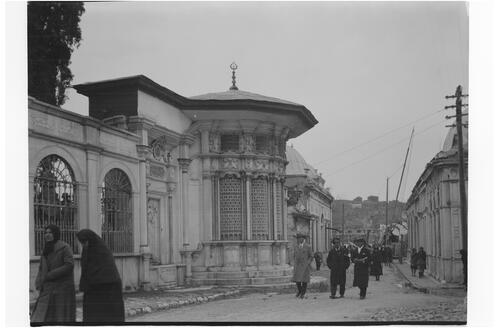 Street with fountain, Istanbul.