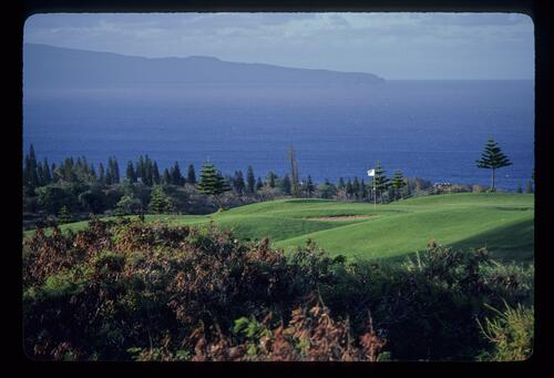 A scenic view of the Kapalua Bay Course, Hawaii