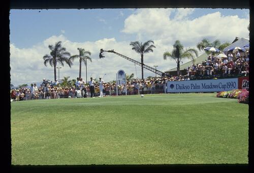 The 1st tee at the 1990 Daikyo Palm Meadows Cup
