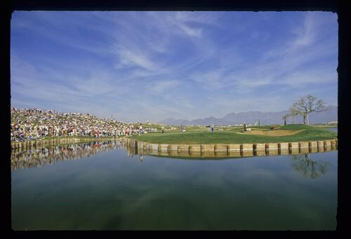 A view across the water at the Phoenix Open Championship at the TPC of Scottsdale