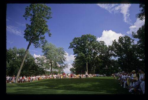 On the tee at the 1988 U. S. Senior Open Championship