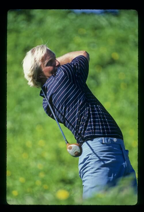 Greg Norman plays the Australian PGA Championship at Monash Country Club