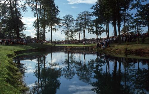 A view of the 10th green of The Belfry at the 1989 Ryder Cup