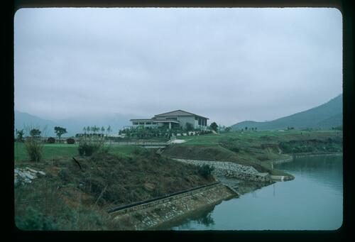 The completed Clubhouse at the Chung Shan Hot Spring Golf Club