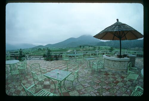 A view from the completed Clubhouse at the Chung Shan Hot Spring Golf Club