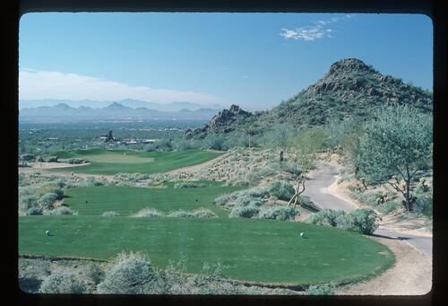 A scenic view of the Desert Highlands Course in Scottsdale, Arizona