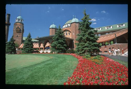 The Medinah clubhouse at the 1988 U. S. Seniors Open Championship