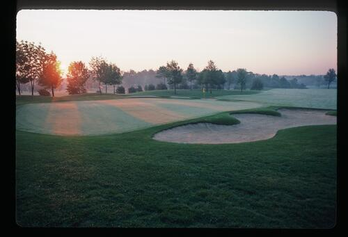 Early morning light over the golf course at Muirfield Village