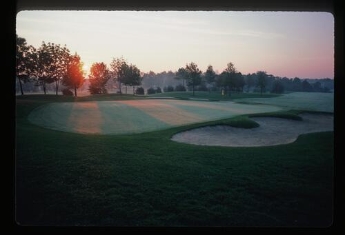 Dawn breaks over the Muirfield Village Golf Club