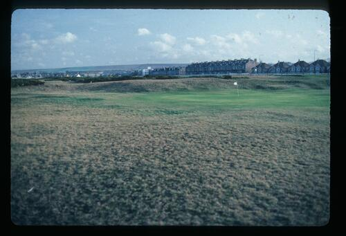 A view across the golf course towards Musselburgh