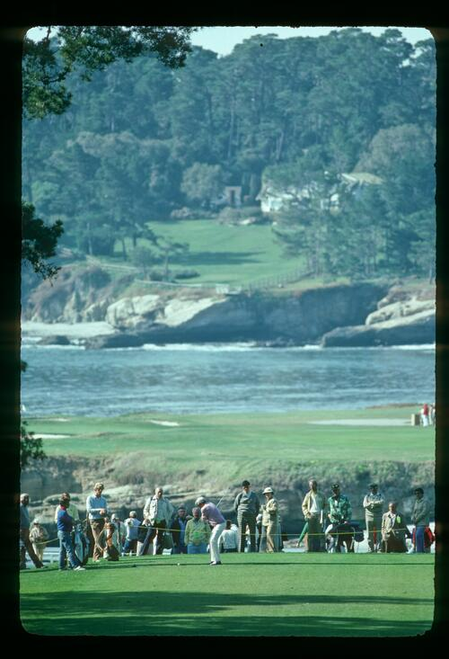 The 5th tee at Pebble Beach at the Bing Crosby Pro-Am Championship