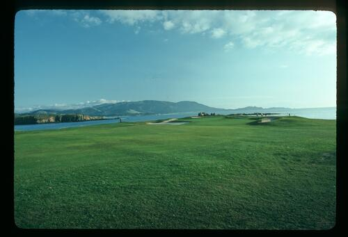 The 17th green at Pebble beach