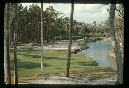 The TPC Sawgrass course under construction