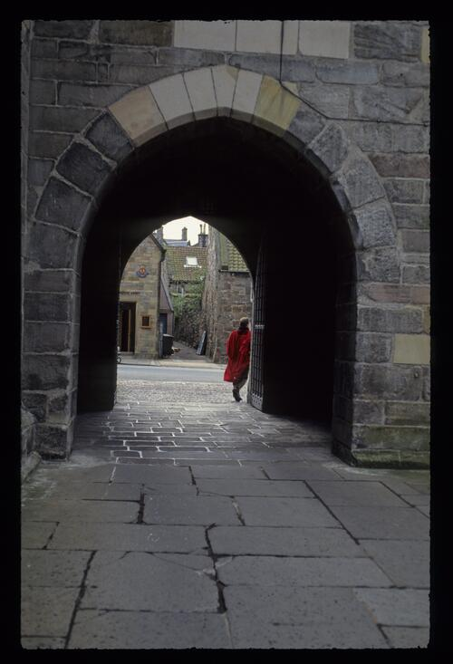 The entrance to St Salvators Quadrangle at the University of St Andrews
