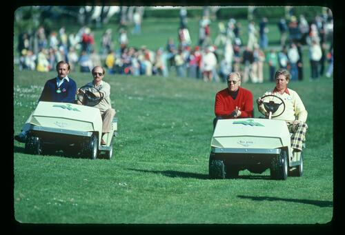 U. S. President Gerald Ford and his secret service personnel enjoy the Bay Hill Classic Championship