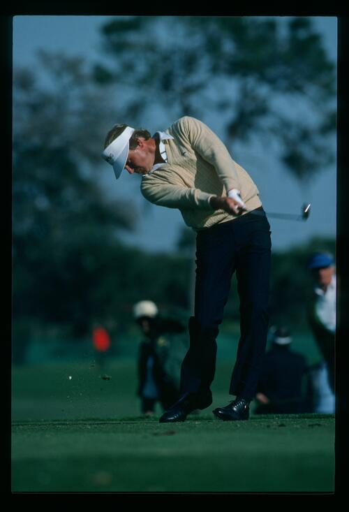 On the tee at the 1984 Bay Hill Classic Championship