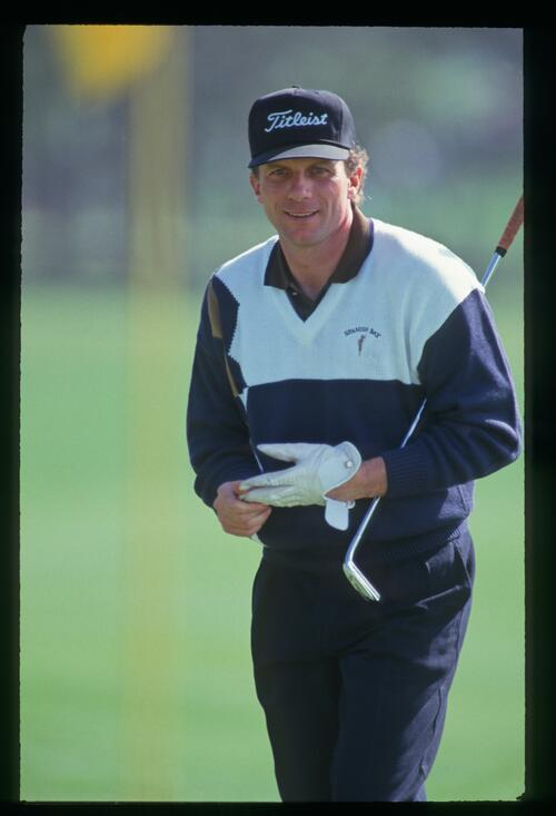 A celebrity at the 1993 AT&T Pro-Am Golf Championship at Pebble Beach