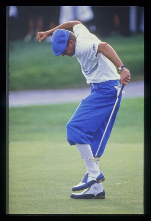Payne Stewart holes his putt to win the 1987 Bay Hill Classic Championship