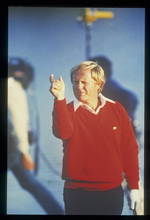 'Missed it by that much!' as jack Nicklaus demonstrates at the Bay HIll Classic Championship