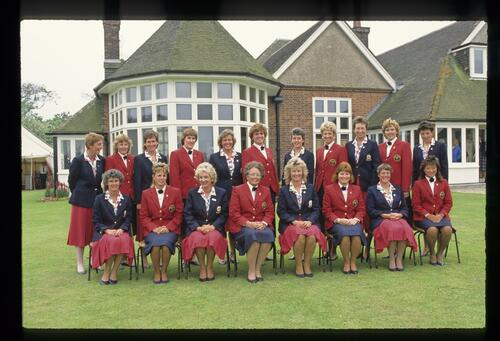 The 1988 Curtis Cup Match teams from the United States and Great Britain & Ireland