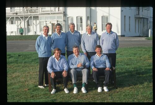 Captain Peter Alliss' ex-Ryder Cup players for the 1992 Grand Match at Royal Cinque Ports