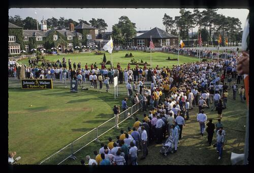 The opening ceremony of the 1989 Ryder Cup Match at The Belfry