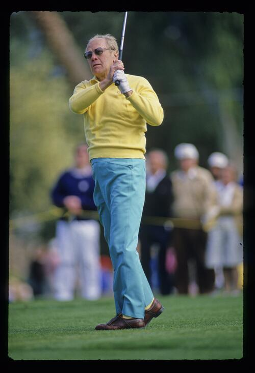 President Gerald Ford from the fairway at the Bob Hope Chrysler Classic Golf Championship