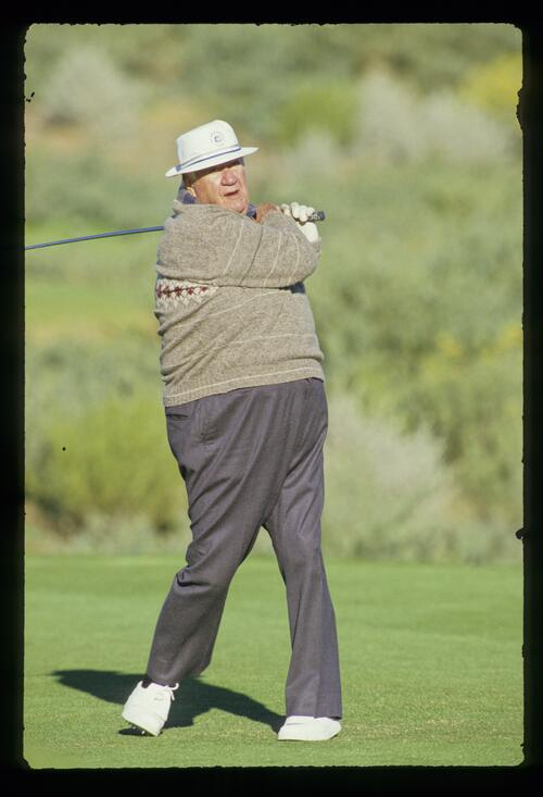 U. S. politician Tip O'Neal on the tee at the 1987 Bob Hope Chrysler Classic Golf Championship