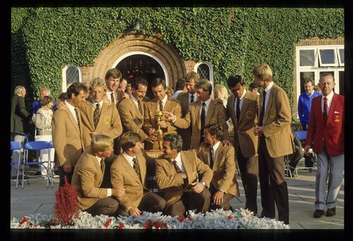 The victorious 1985 European Ryder Cup Team