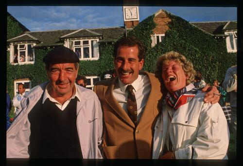 European player Sam Torrance poses with his parents at the 1985 Ryder Cup